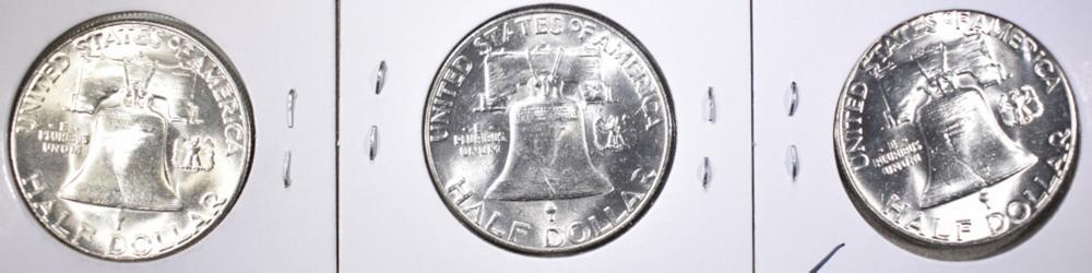 Lot 13: 1952-P-D&S FRANKLIN HALF DOLLARS GEM BU