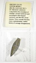 Lot 28: ANCIENT CELTIC ARROW MONEY-6th-5th CENTURY B.C.