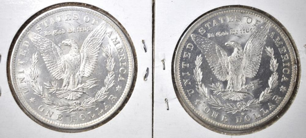 Lot 15: 2 1883-O MORGAN DOLLARS CH BU