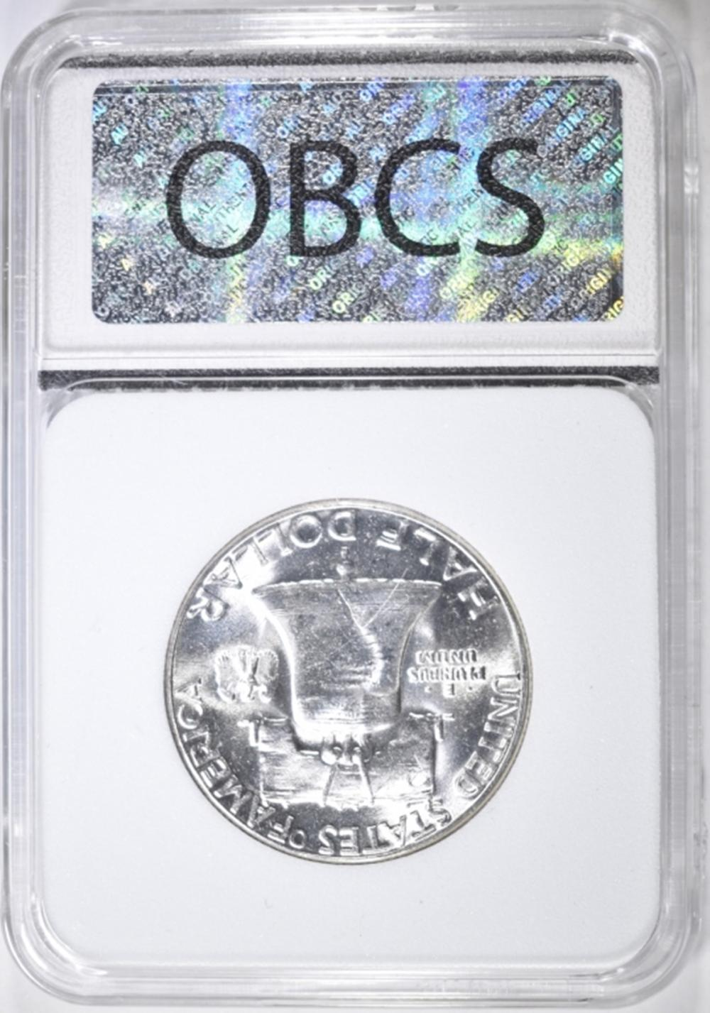 Lot 31: 1958 FRANKLIN HALF DOLLAR, OBCS GEM BU FBL