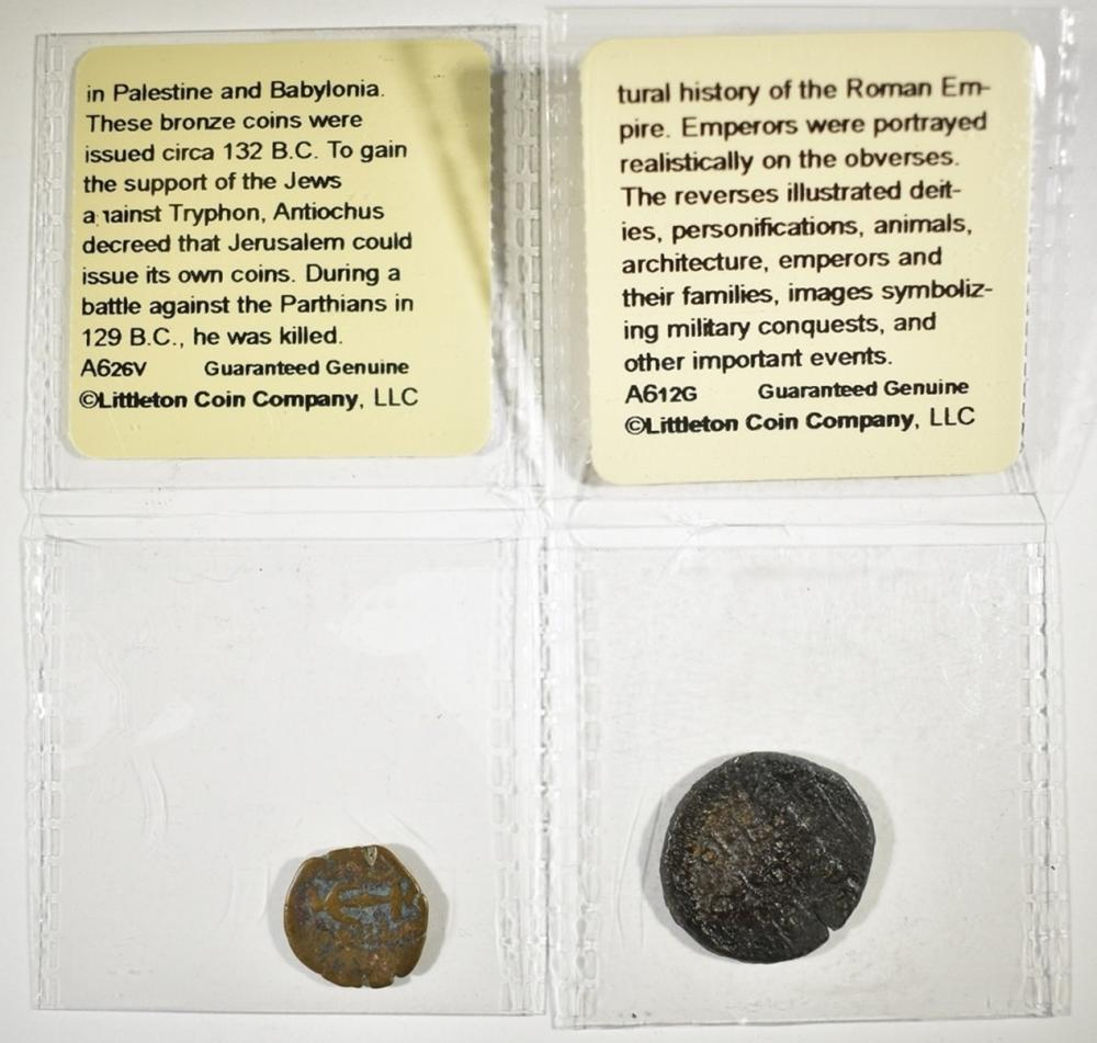 Lot 27: 2-ANCIENT COINS