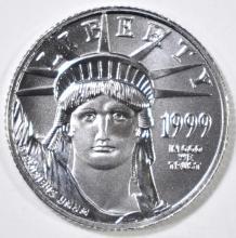 Lot 50: 1999 1/10 oz PLATINUM AMERICAN EAGLE