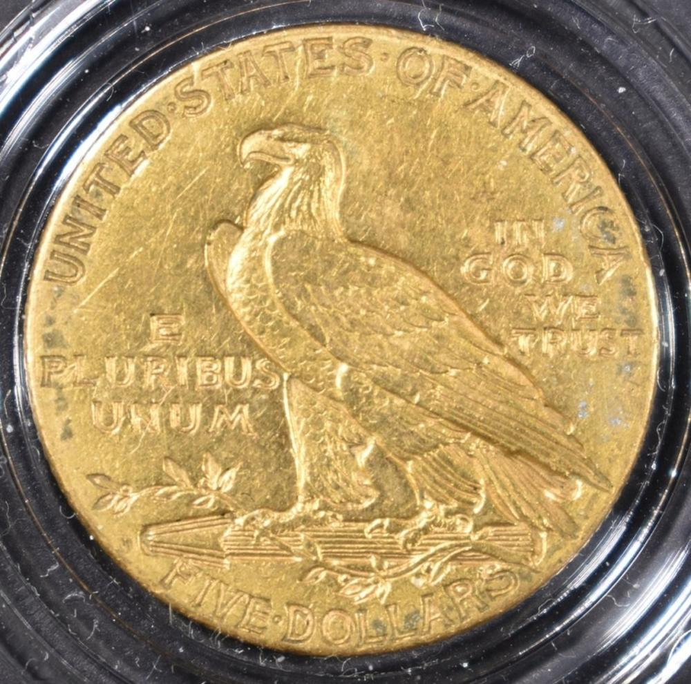 Lot 47: 1909-D $5 GOLD INDIAN XF