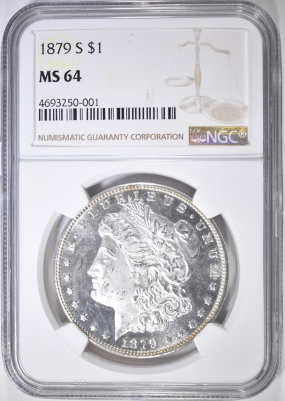 1879-S MORGAN DOLLAR  NGC MS-64