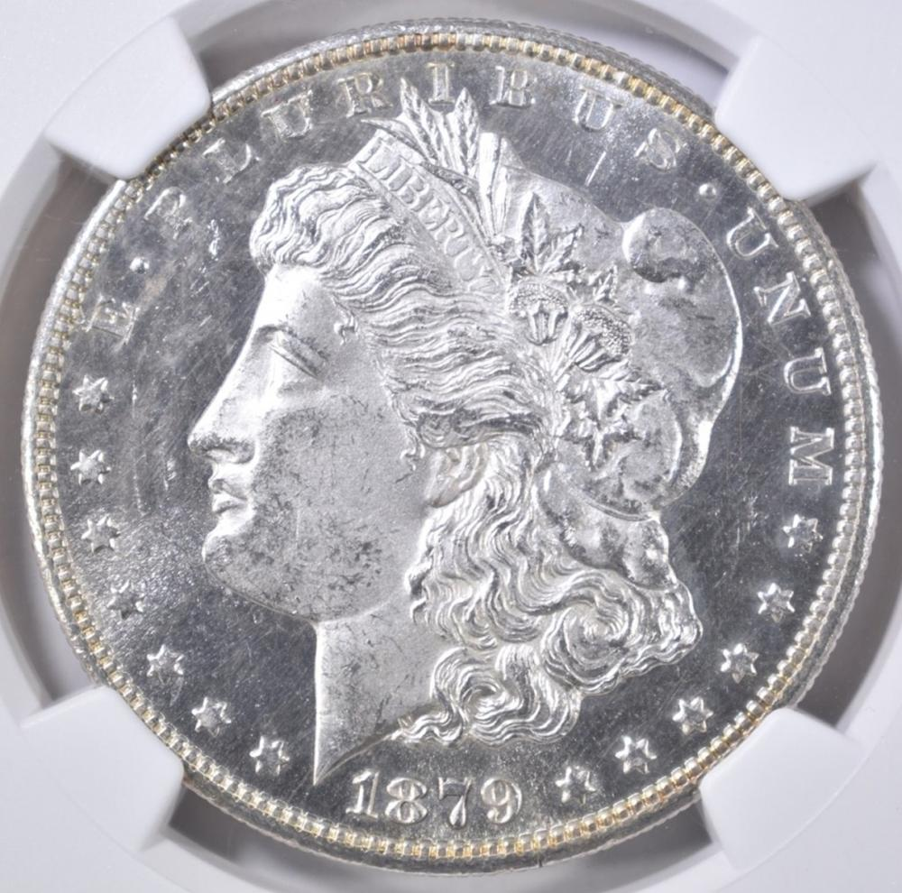Lot 54: 1879-S MORGAN DOLLAR NGC MS-64