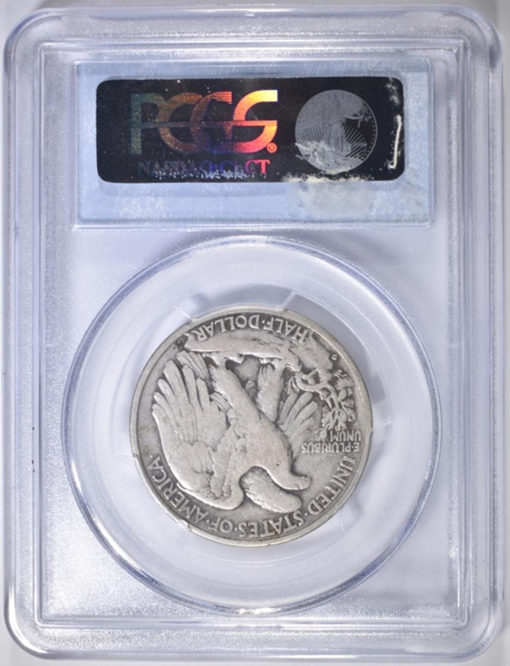 Lot 59: 1938-D WALKING LIBERTY HALF DOLLAR PCGS VG-10