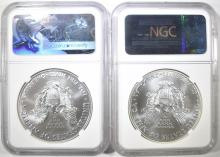 Lot 60: 2014-W & 2017-W ASE EARLY RELEASES NGC MS-70