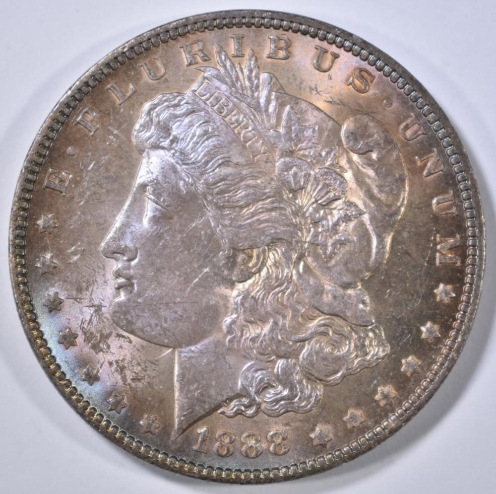 1888 MORGAN DOLLAR  CH BU