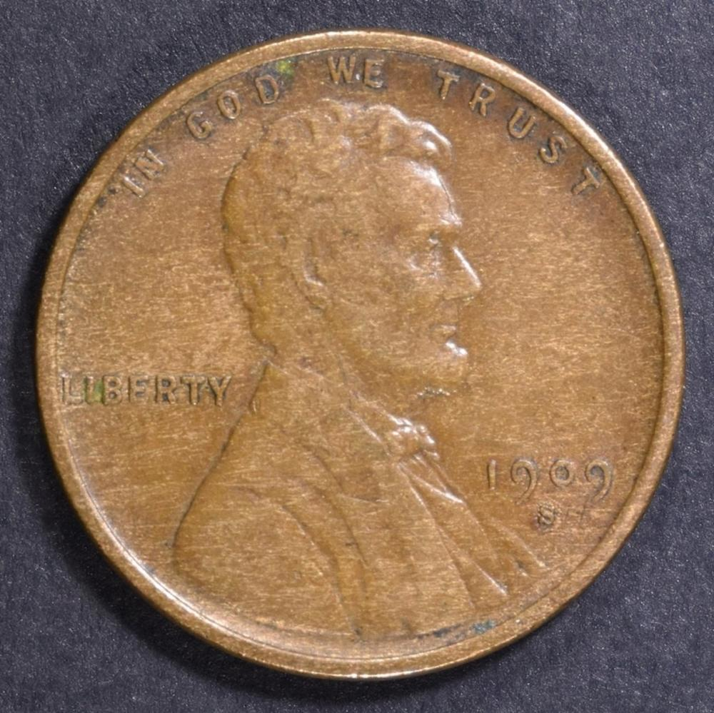 Lot 73: 1909-S LINCOLN CENT AU KEY DATE