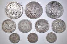 Lot 67: $10 FACE VALUE MIXED SILVER