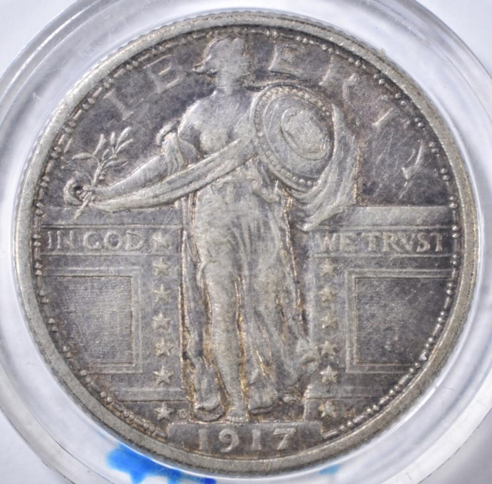 Lot 82: 1917-D TYPE 1 STANDING LIBERTY QUARTER XF+
