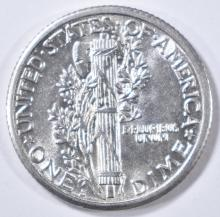 Lot 80: 1917-S MERCURY DIME AU/BU