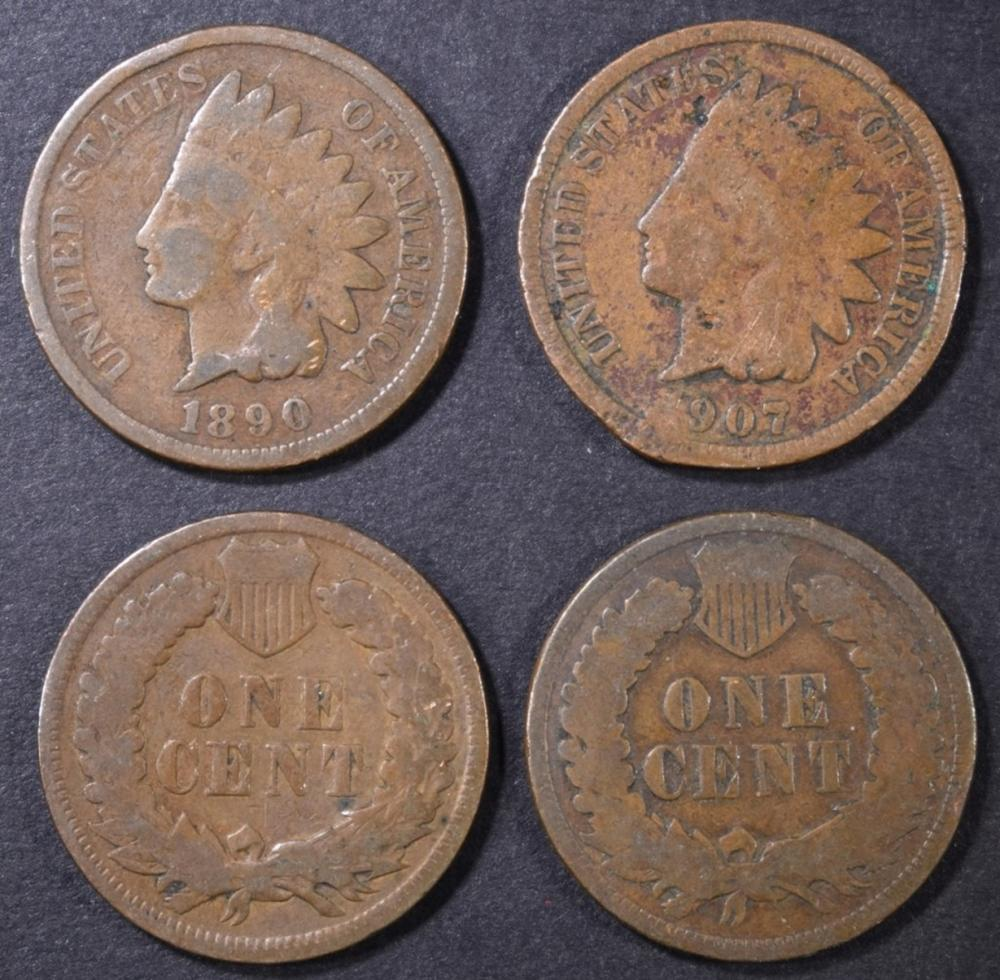 Lot 94: 338 MIXED INDIAN HEAD CENTS