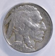 Lot 102: 1924-S BUFFALO NICKEL ANACS F-12
