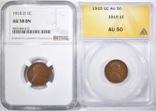Lot 101: LOT OF 2 LINCOLN CENTS: