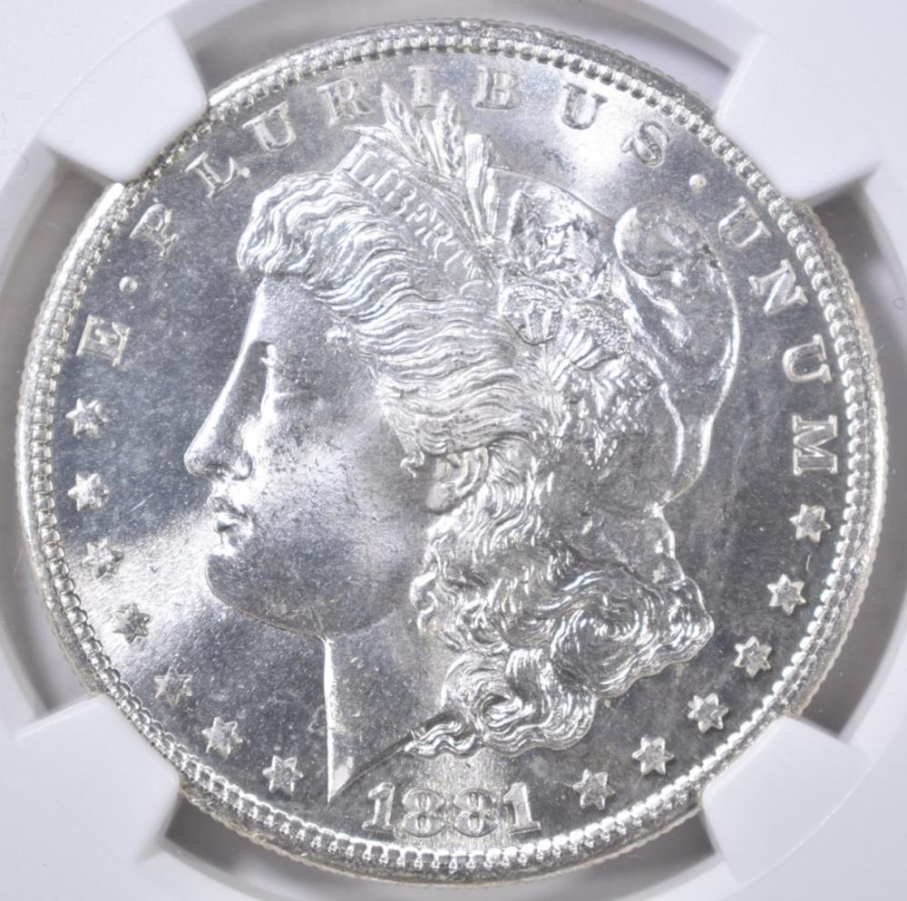 Lot 116: 1881-S MORGAN DOLLAR NGC MS-66 BLAST WHITE