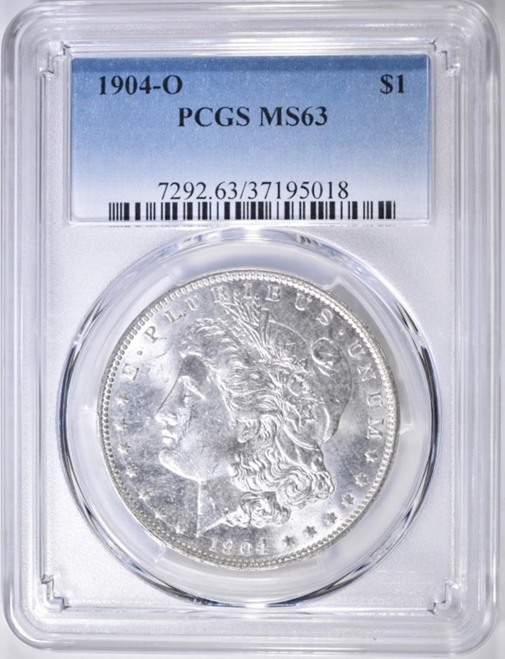 Lot 114: 1904-O MORGAN DOLLAR PCGS MS-63