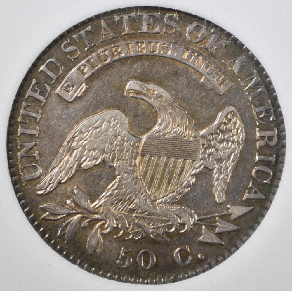 Lot 127: 1821 CAPPED BUST HALF DOLLAR NNC AU BU