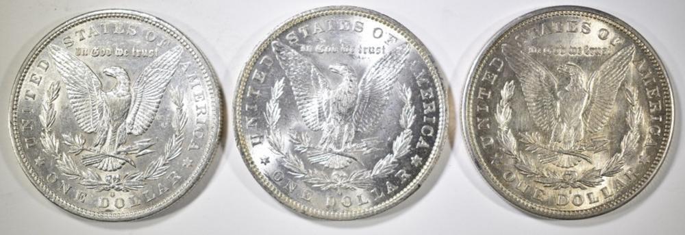 Lot 119: 1879-O, 84-O & 1921-S MORGAN DOLLARS CH BU