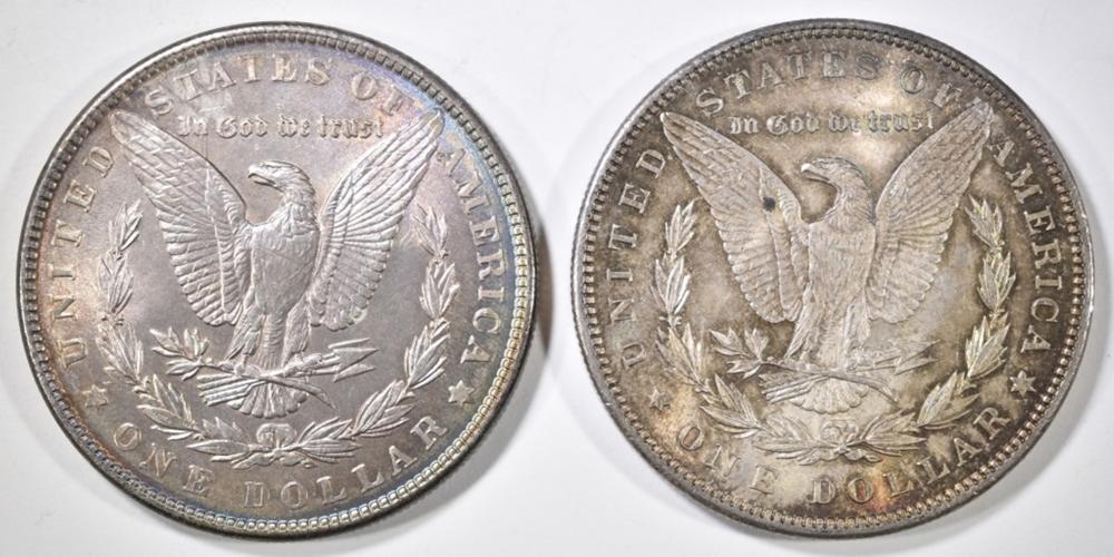 Lot 118: 1886 & 1896 MORGAN DOLLARS CH/GEM BU COLOR!