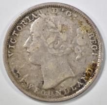 Lot 131: 1876 H SILVER 20 CENT NEWFOUNDLAND CANADA