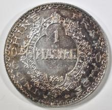 Lot 134: 1931-A SILVER PIASTER FRENCH INDO-CHINA CH BU