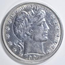 Lot 144: 1907-O BARBER HALF DOLLAR AU