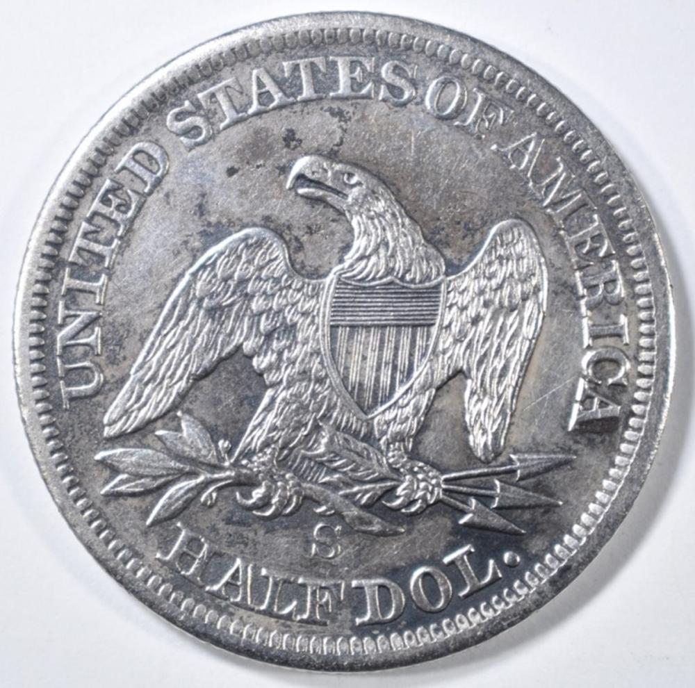 Lot 142: 1855-S SEATED LIBERTY HALF DOLLAR VF/XF