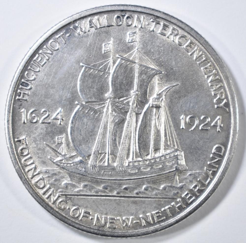 Lot 146: 1924 HUGUENOT COMMEM HALF DOLLAR BU