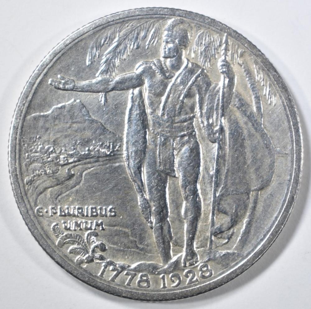 Lot 147: 1928 HAWAII COMMEM HALF DOLLAR BU