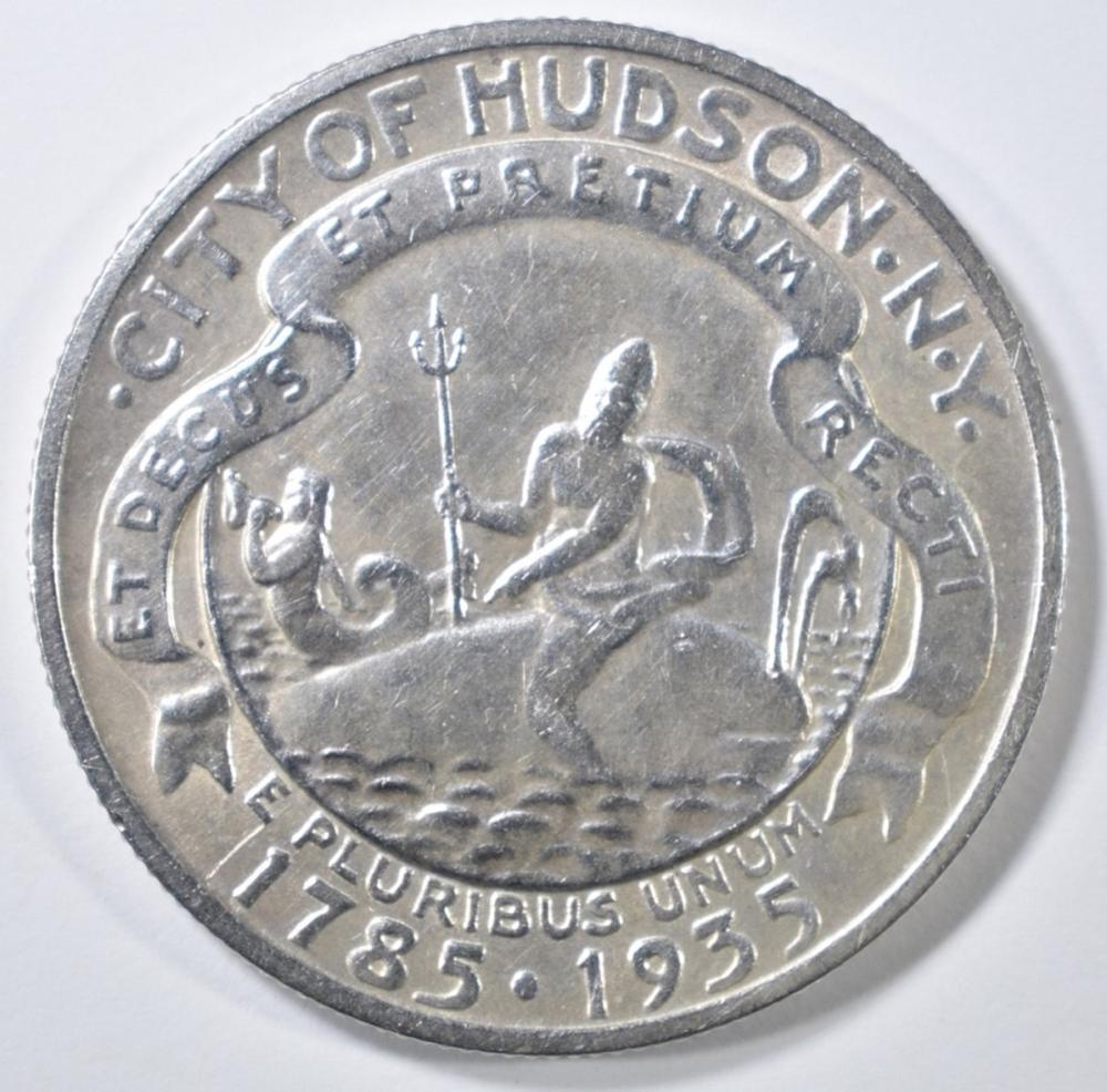 Lot 148: 1935 HUDSON COMMEM HALF DOLLAR CH BU
