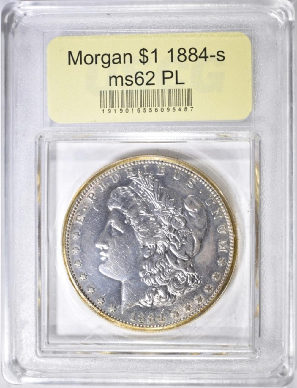 Lot 149: 1884-S MORGAN DOLLAR USCG CH BU PL