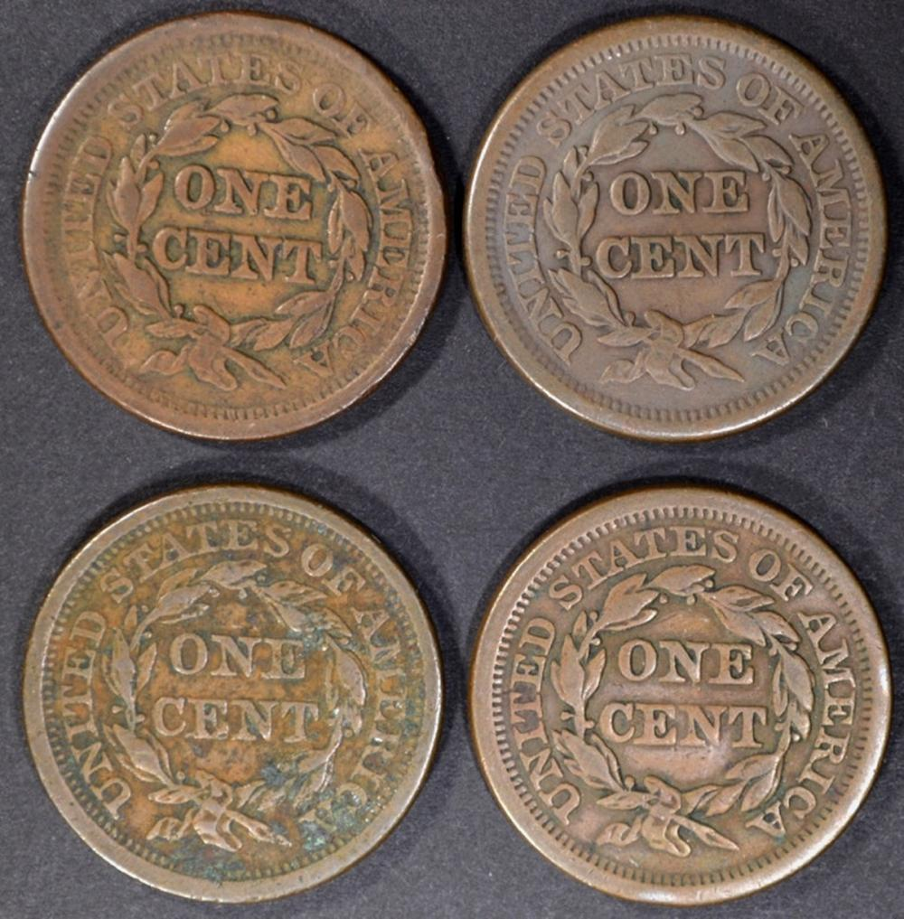 Lot 151: LARGE CENTS (2) 1851 XF, 1854 VF/XF, 1856 VF/XF