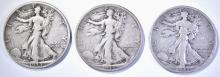 Lot 154: 3-1933-S WALKING LIBERTY HALF DOLLARS, FINE+