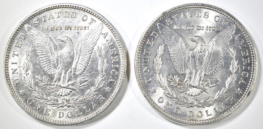 Lot 159: (2) MORGAN DOLLARS CH BU: 1880 & 1885