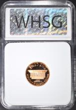 Lot 166: 1982-S LINCOLN CENT, WHSG PERFECT GEM PR RED DCAM