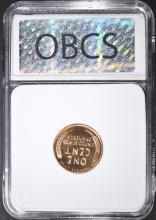 Lot 168: 1952 LINCOLN CENT, OBCS SUPERB GEM PR RED