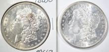 Lot 163: (2) MORGAN DOLLARS: 1883-O CH BU &