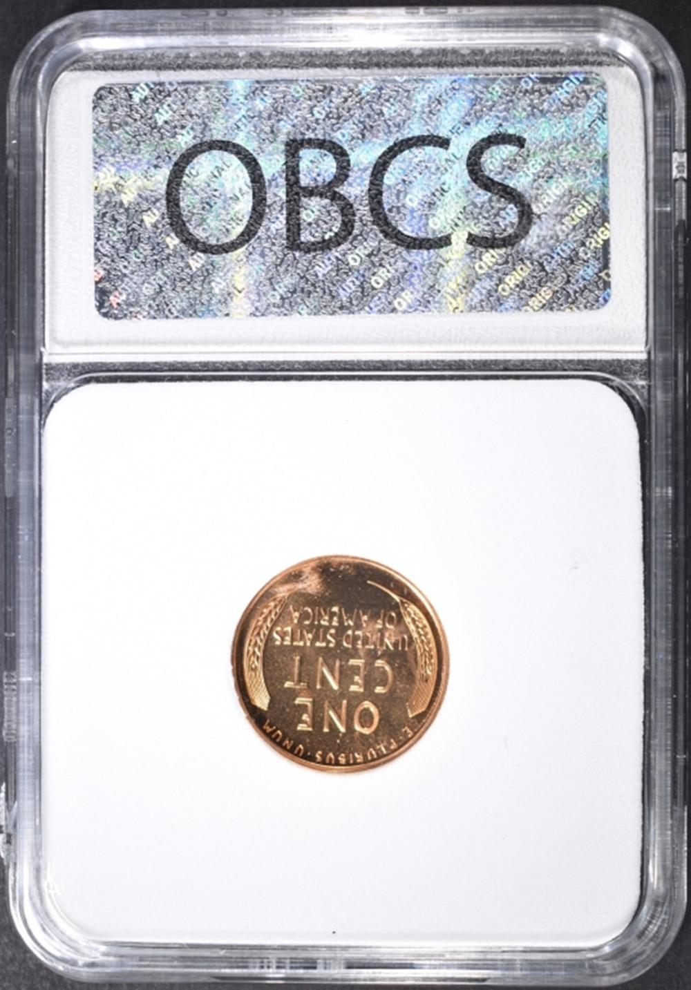 Lot 170: 1955 LINCOLN CENT, OBCS SUPERB GEM+ PR RED