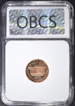 Lot 172: 1960 SM DATE LINCOLN CENT, OBCS SUPERB GEM+ PR RED