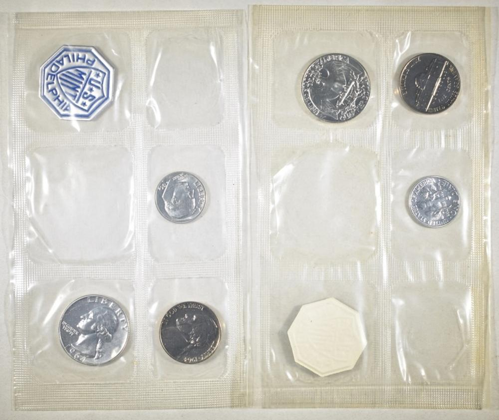 Lot 192: 40-1964 U.S. PROOF SETS: MISSING CENT & HALVES
