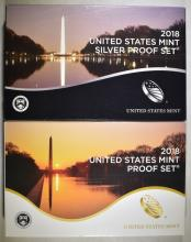 Lot 198: 2018 CLAD & SILVER U.S. PROOF SETS