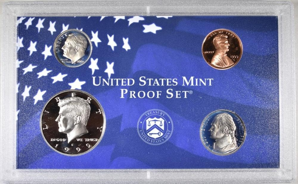Lot 195: 2-EACH 1990-99 U.S. PROOF SETS ORIG PACKAGING