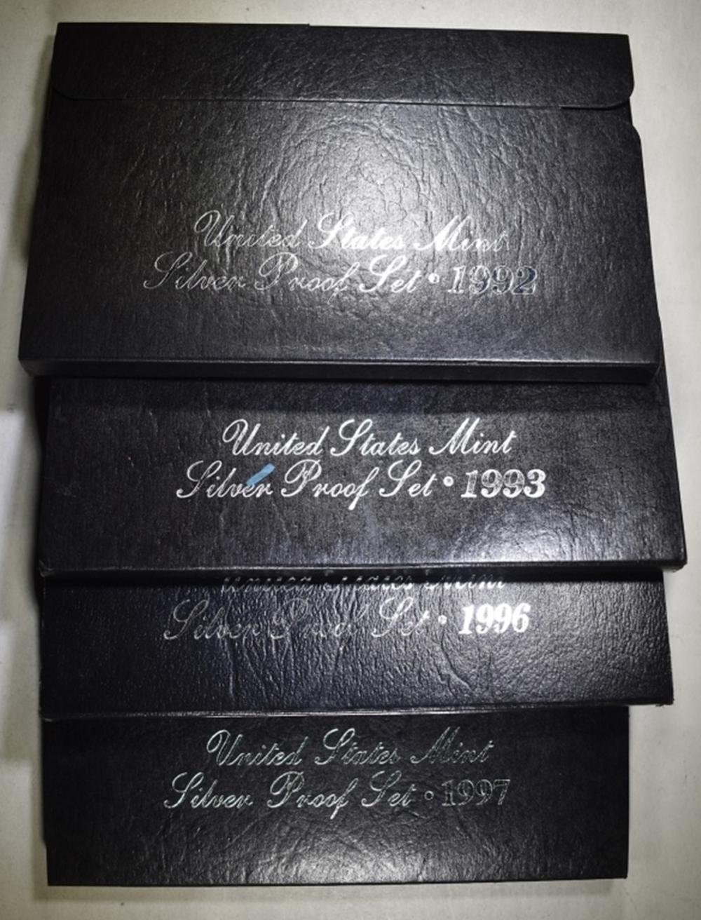 Lot 200: 1992-93-96 & 97 U.S. SILVER Pf SETS ORIG PACKAGING