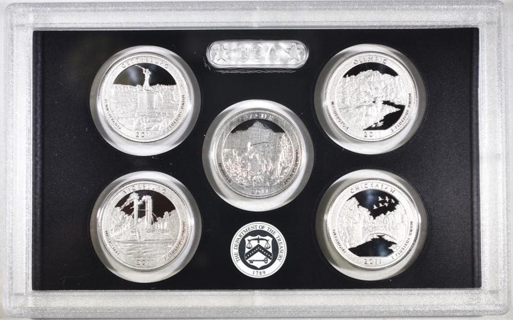 Lot 199: 2011 U.S. SILVER PROOF SET IN ORIG PACKAGING