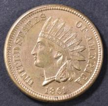 Lot 201: 1861 INDIAN HEAD CENT CH UNC
