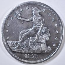 Lot 210: 1876-S TRADE DOLLAR BU OLD CLEANING