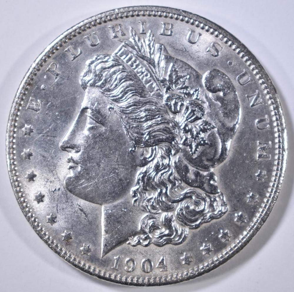 Lot 216: 1904 MORGAN DOLLAR CH BU