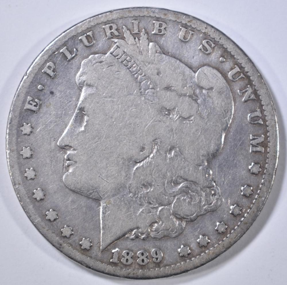 Lot 213: 1889-CC MORGAN DOLLAR VG