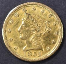 Lot 222: 1851-O $2.5 GOLD LIBERTY CH AU